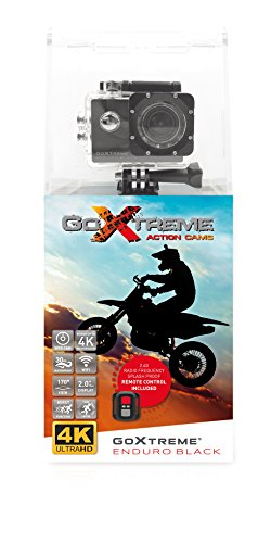 "GoXtreme Enduro Black Action Kamera (4K, Real 2,7K@30fps, FullHD bis 60fps, inkl. Fernbedienung, 2""/5cm Display, WiFi) Schwarz"