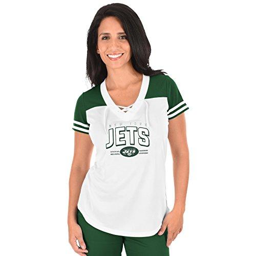 Profile Big & Tall NFL New York Jets Damen T-Shirt NFL Plus S mit V-Ausschnitt, 2 x WHT/Dk Grn (Jets-shirt Frauen Für)