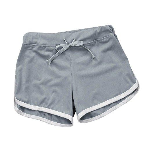 Zegeey Retro-Shorts Damen Sport Shorts Kurze Hosen Baumwolle Yoga Athletik Tanzen Shorts Fitness Hot Pants Hipster Workout Jersey-Shorts Basic Strand Running Gym Yoga Shorts Hosen Yoga Laufen -
