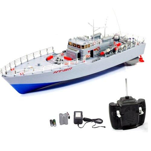 Missile - RC ferngesteuertes Boot, Schiff Kriegsschiff, Küstenwache Modell, Ready-To-Run, Komplett-Set