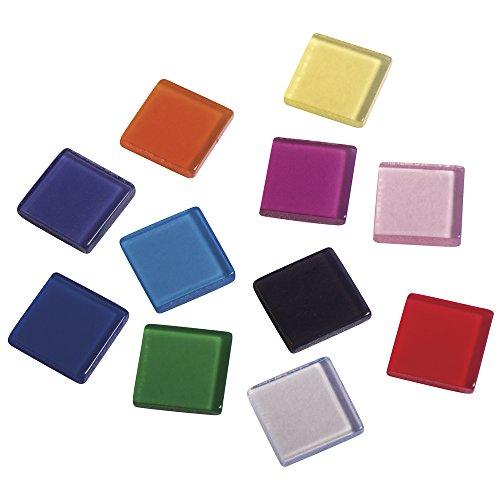 50g Box (Rayher 14540999 Acryl-Mosaik, 1x1 cm, transparent, SB-Box ca. 205 Stück / 50g, bunt)