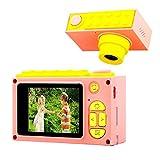 ShinePick Appareil Photo pour Enfants, Caméra Vidéo avec Carte TF 256M / Zoom numérique 4X / 8MP / Écran LCD de 2 Pouce Caméra pour Enfants (Rose)