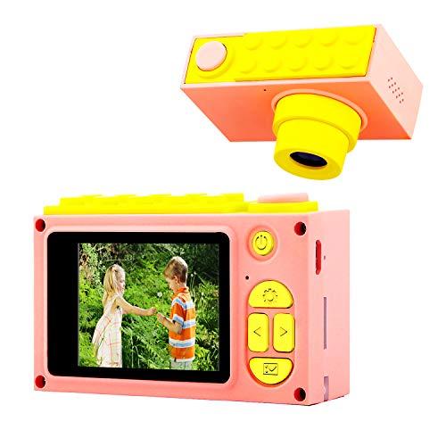 ShinePick Appareil Photo pour Enfants, Caméra Vidéo avec Carte TF / Zoom numérique 4X / 8MP / Écran LCD de 2 Pouce Caméra pour Enfants (Rose)