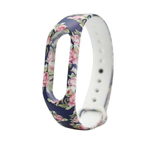 bescita Neue Ersatz-Gel Armband Band Silikonarmband kompatibel mit Xiaomi Mi Band 2 Armband (A)
