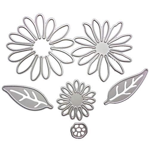 Bogji - Daisy-Pattern Cutter Würfel Kreative Hohlen Hintergrund Schneiden Papier Vorlage Kohlenstoffstahl Scrapingbook DIY Werkzeuge -