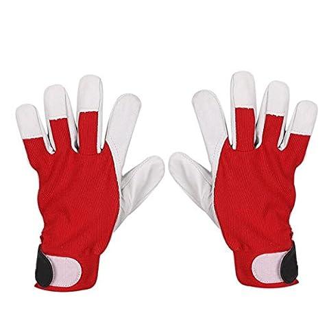 Gants équipement épaississant Durable Antidérapant Entretien Travaux Soudure Protection Protection Du Travail Gants,Red