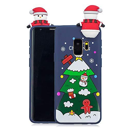 Banath Weihnachten Hülle für Samsung Galaxy S9 Plus, Handyzhülle mit Christmas TPU Soft Skin Silikon Xmas Ultra Slim Back Case - Christmas Tree