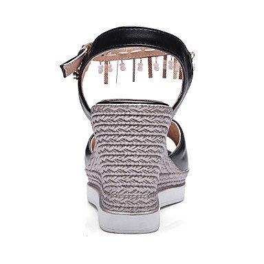 LvYuan Da donna Sandali Scarpe formali Finta pelle Primavera/Autunno Multistagione Matrimonio Scarpe formali Con diamantini Perline ZeppaBianco blushing pink