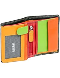 Mini-Kombibörse mit Riegel im Hochformat LEAS in Echt-Leder, bunt - LEAS Multicolore-Serie