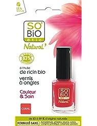 SO'BiO étic Couleur & Soin Vernis à Ongles 04 Vibrant Corail 10 ml