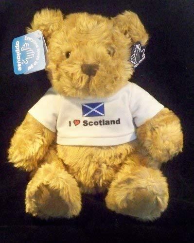 Russ Berrie I Love Scotland Football Mascot Teddy Bear
