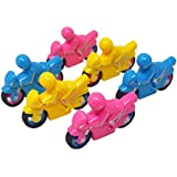 Parteet New Bike Style Sharpener And Eraser - Pack Of 12 Pieces For Birthday Party Return Gifts For Kids