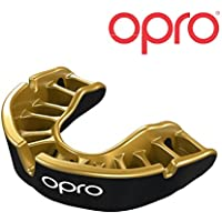 Opro Mouthguard Gold Level Gum Shield for Ball, Combat and Stick Sports - 18 Month Dental Warranty (Adult/Kids Sizes)