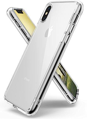 Cover iphone x, ringke [fusion] retro pc trasparente respingente in tpu [tecnologia protezione cadute/assorbimento urti] bordi sollevati protezione copertura custodia apple iphone x - chiaro (clear)