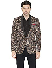Wintage Men's Polyester Printed Tuxedo Party Blazer : Multiple Colors