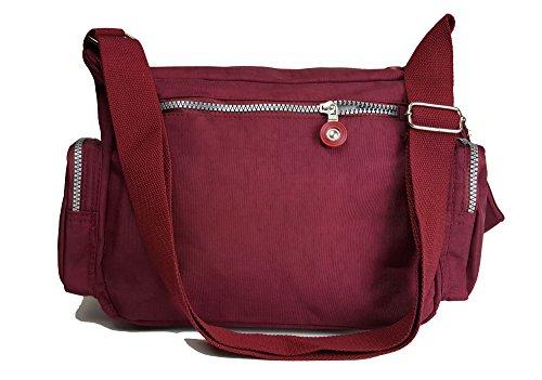 GFM Fashion, Borsa a tracolla donna Multicolore multicolore Small .Style 0 - Burgundy Red (8998BRGLL)