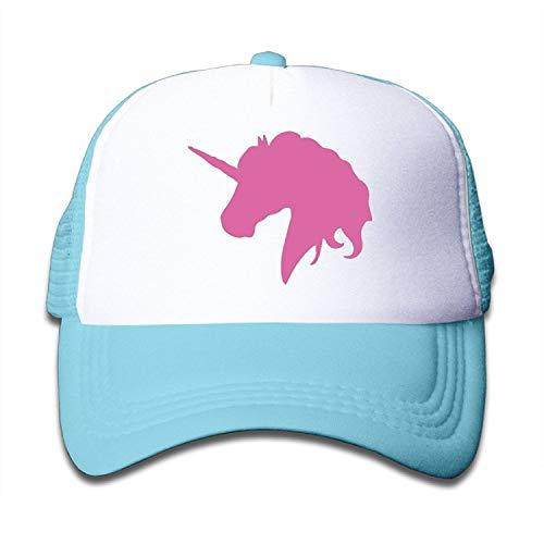 ENGDINGXIANPUZHAIWUJI Kids Pink Polo Horse Trucker Hats,Youth Mesh Caps,Snapback Baseball Cap Hat