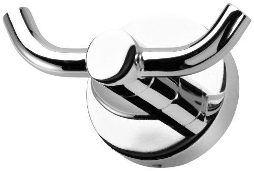 Haceka Kosmos Chrome Gancho Doble, Metal, Gris, 5.3x9x5 cm