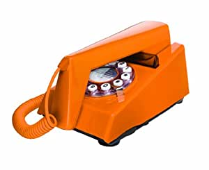 Wild and Wolf Retro Trim Phone with Push Button Dialling - Orange