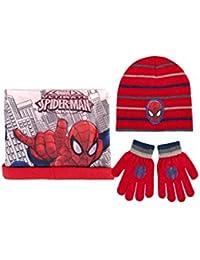 Spiderman Set Gorro, Bufanda y Guantes Plumier 3 Pisos Los Descendientes Rojo
