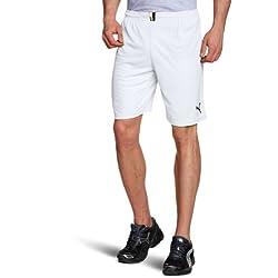 PUMA - Pantalones de fútbol sala para hombre, tamaño XXL, color blanco / negro