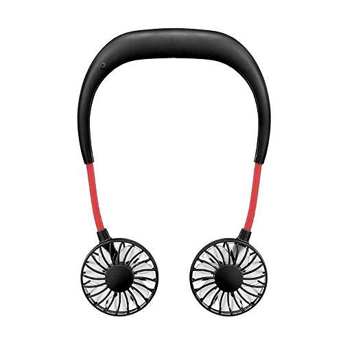 HSQA Freisprech-Nackenbügel Freisprech-Hänge-USB-Dual-Fan-Mini-Luftkühler Summer Portable