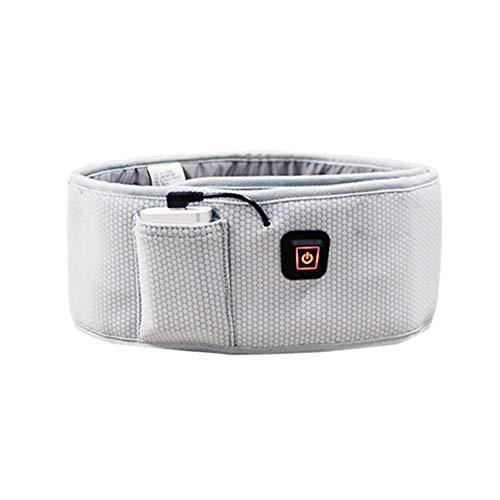Heizkissen elektrisch Heizung Wrap Rückengurt Lordosenstütze Warmer Gürtel for den unteren Rücken Schmerzlinderung (Farbe : Grau, Größe : Free Size)