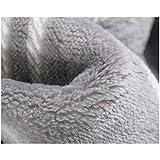 LYX Wolldecke Textilfaser- Einzelne Und Doppelte Frettchendecken Werden Von Erwachsenen Mit Einer Dicken Flanelldecke Zum Schlafen Von Klimaanlagenhandtuchbettlaken Mit Grauem Plaid Verdickt Erwachsen