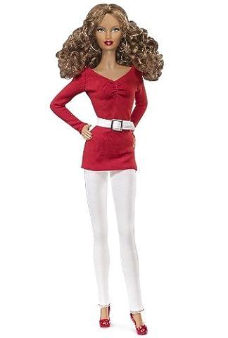 MATTEL BARBIE poupée africaine métisse ou noire BASICS COLLECTION RED rouge model no. 02 black label 2011