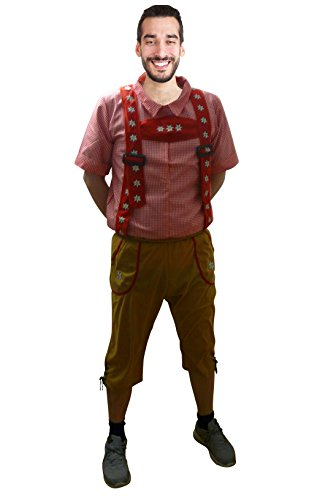 Seruna Oktoberfest-Kostüm, F119 Gr. L-XXL, Bayer-Kostüme Oktoberfest-Kostüme Männer-Faschingskostüm, Fasching Karneval, traditionelle Faschings-Kostüme, Geburtstags-Geschenk - Oktoberfest Kostüm Mann