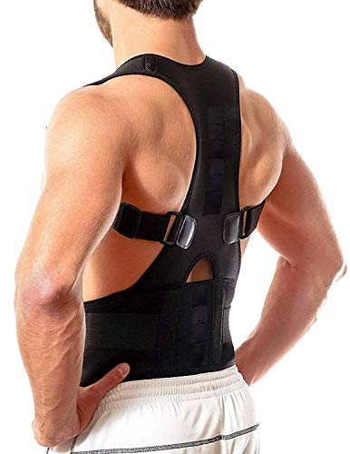 Latiq Mart Real Doctor Posture Corrector For Lower and Upper Back Pain, Shoulder Back Support Belt for Men and Women - Large