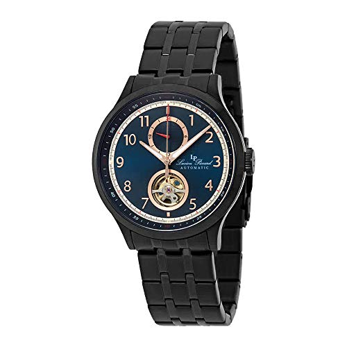 Lucien Piccard Open Heart GMT II Automatic Blue Dial Men's Watch LP-28010A-BB-03-BB