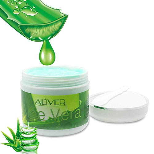 Organic Aloe Vera Cream, Womdee 10.5oz Jar 100% Natural Moisturizing Face Cream Aloe Vera Gel Allergy Free Face/Body Cream Moisturizer For All Skin -