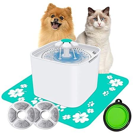 AILUKI Katzen Trinkbrunnen Wasserbrunnen für Haustier Wasserspender Hunde Katzentrinkbrunnen Katzenbrunnen…