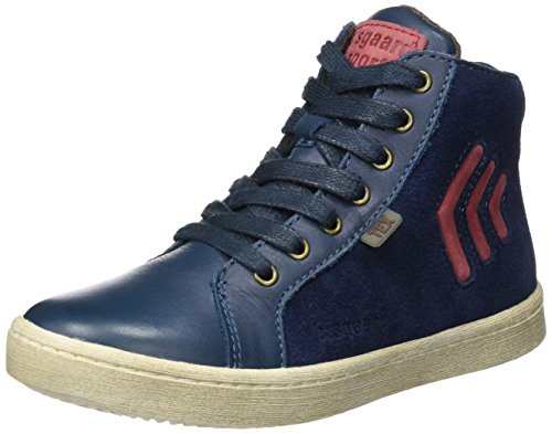 Bisgaard Unisex-Kinder Schnürschuhe Hohe Sneaker, Blau (625 Blue), 37 EU
