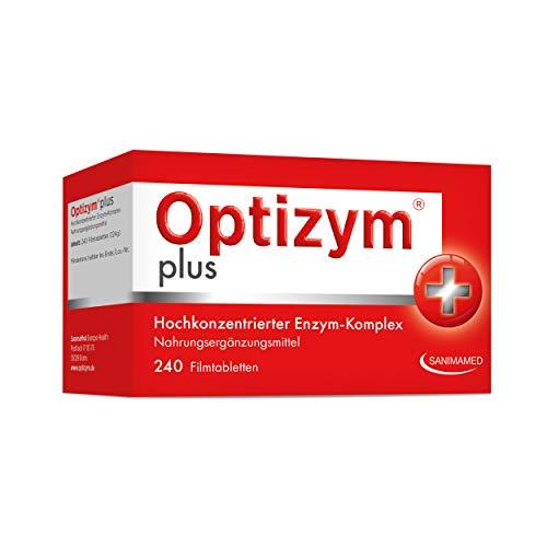 OPTIZYM plus Enzym-Komplex I 6-fach Enzyme in Kombination (Papain, Bromelain, Pankreatin, Rutin, Trypsin und Chymotrypsin) Hochdosiert I Selbstheilungskräfte aktivieren (240 Tabletten)