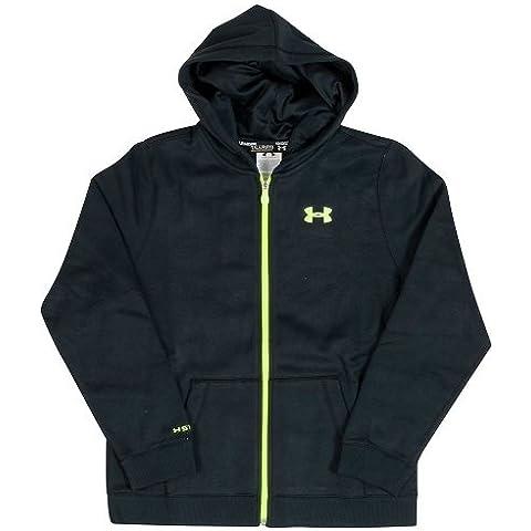 Under Armour Fitness Sweatshirt EU Transit Full Zip Hoody - Sudadera con capucha para niño, color negro, talla