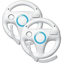 Wii Volante Juegos Stoga Generic Wii Controller for Nintendo Mario Kart Racing Volante Juego Regulador para Control Remoto Wii Juego - Blanco (2 PIEZAS)