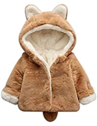 Samber Veste Hiver Bébé Fille Manteau à Capuche Fille Blouson Capuchon Garçon Vêtement Chaud pour Enfant 59cm-110cm