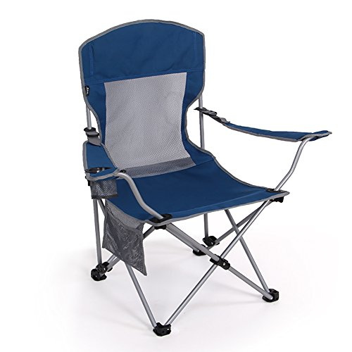 Blaue Strand-klapp-stühle (Camping-Stühle WSSF- Tragbare Eisen Klapp Verstellbare Rückenlehne Freizeit Mittagspause Recliners Outdoor Patio Strand Angeln Picknicks Stuhl - Last 120 kg (Farbe : Blue))