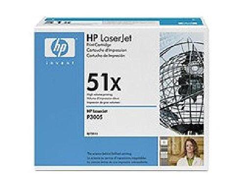 Q7551X HP Toner Cartridge 51X Schwarz HP 51X HP Laserjet Q7551X Druckkassette schwarz mit HP smart Drucktechnologie/ kompatibel zu Laserjet P3005/M3035MFP. - Schwarz, Smart Druckkassette
