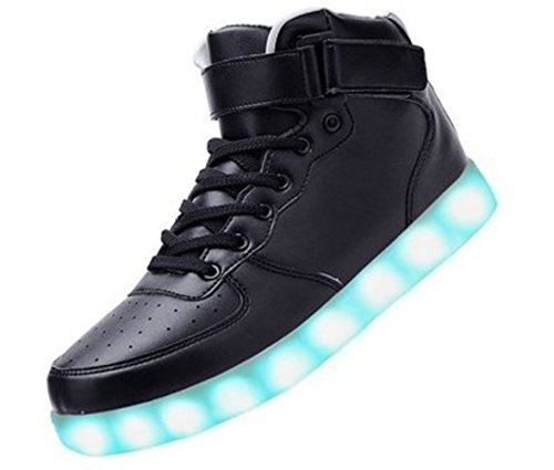 [+Piccolo asciugamano]Luci LED colorati bagliore e ricarica scarpe dargento nuovo scarpe casual USB maschio luminoso e di coppia scarpe femmin c8