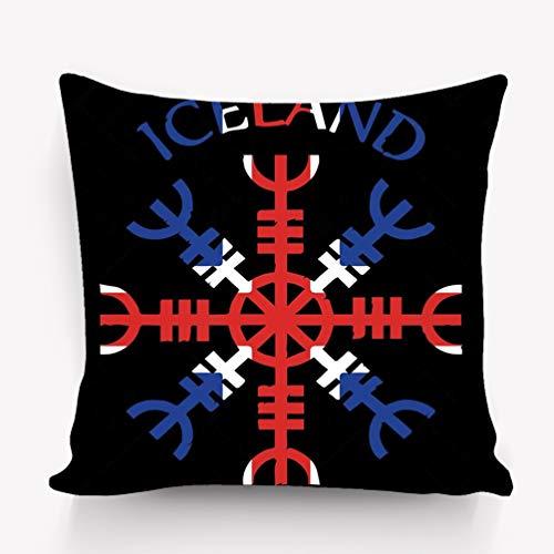 Kissenbezüge Throw Pillow Cushion Cover, Modern Art Print, Decorative Square Accent Pillow Case, 18 X 18 inches, Helm awe Helm Terror Icelandic Magical Staves aegi (Helm Aegis)