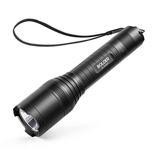 Anker torcia led lc90 - torcia elettrica tascabile led con led cree super luminosi 900 lumen, resistente all'acqua ip65, ricaricabile e con zoom - 5 tipi di luminosità, batteria tipo 18650 inclusa