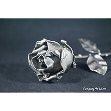 """Rosa Eterna Forjada sin peana """"Ideal para regalo"""""""