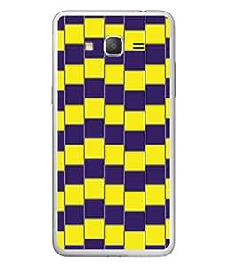 PrintVisa Designer Back Case Cover for Samsung Galaxy Grand 3 :: Samsung Galaxy Grand Max G720F (Yellow Blue Long Sticks Unique )