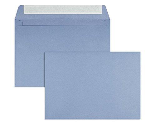 Farbige Briefhüllen | Premium | 162 x 229 mm (DIN C5) Blau (100 Stück) mit Abziehstreifen | Briefhüllen, Kuverts, Couverts, Umschläge mit 2 Jahren Zufriedenheitsgarantie