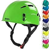ALPIDEX Casco per Arrampicata de Donna e Uomo Casco Alpinismo en Diversi Colori, Colore:Apple Green