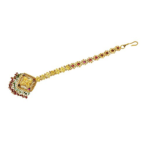 Joyalukkas Apoorva Collection 22k (916) Oxidized Gold Maang Tika