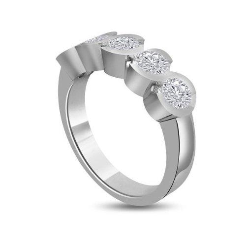 1.00ct G/VS1 Diamante Half Eternity Anello da